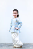 KIDS Kurung Brocade in Blue