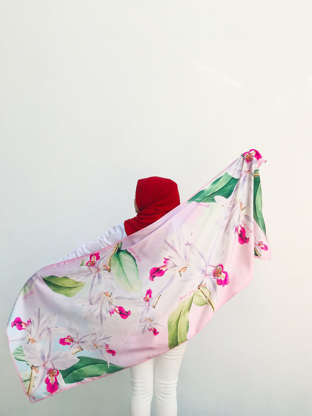 #AY4Singapore Vanda Scarf in Pink