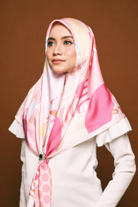 #AYJAPAN 2.0 Wave Square Scarf in Pink