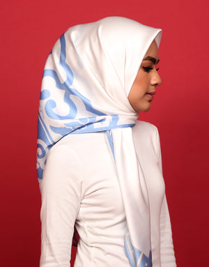 #AYCHINA Hangzhou Square Scarf in Baby Blue