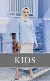 KIDS Vintage Kurung in Blue & Beige