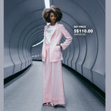MINIMALIST SET Pink Long Jacket