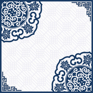 #AYCHINA Hangzhou Square Scarf in Navy