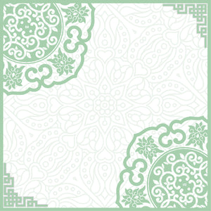 #AYCHINA Hangzhou Square Scarf in Mint
