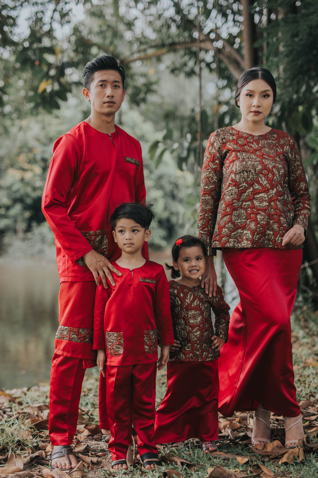 #AYLEBARAN2019 Kids RED BROCADE Sets