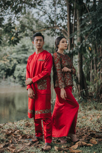 #AYLEBARAN2019 Adult RED BROCADE Sets