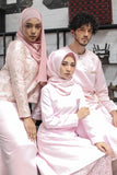 Brocade Kurung in Pink