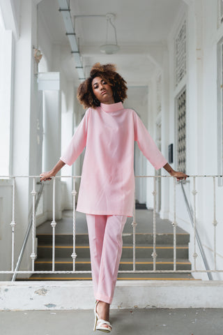 MINIMALIST Pink Dress Top