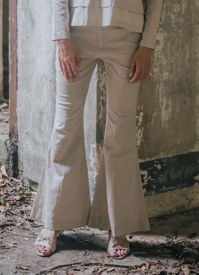 Bell Bottom pants in Nude