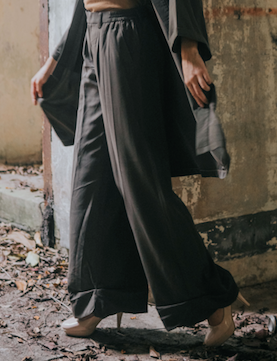 Wide Legged Pants in Green