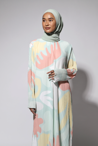 NIHAYA Pleated Dress Calla in Baby Mint