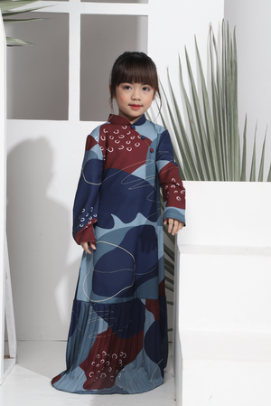 AYLEBARAN 2021 Kids Oriental Dress in Cherri Cornflakes