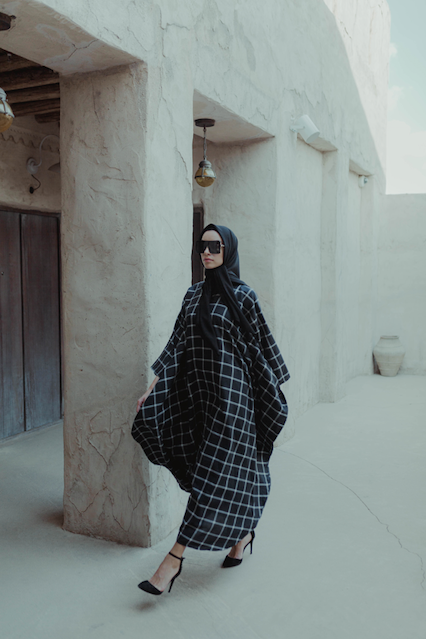 #AYLEBARAN2019 Women BLACK CHECKERED KAFTAN