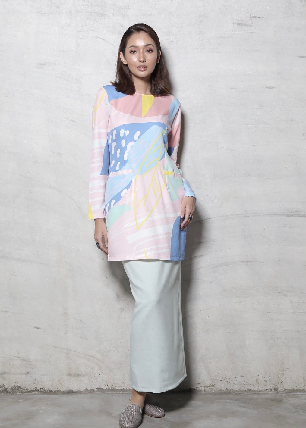 #AYLEBARAN2020 Women's Printed Kurung Pahang in Mint