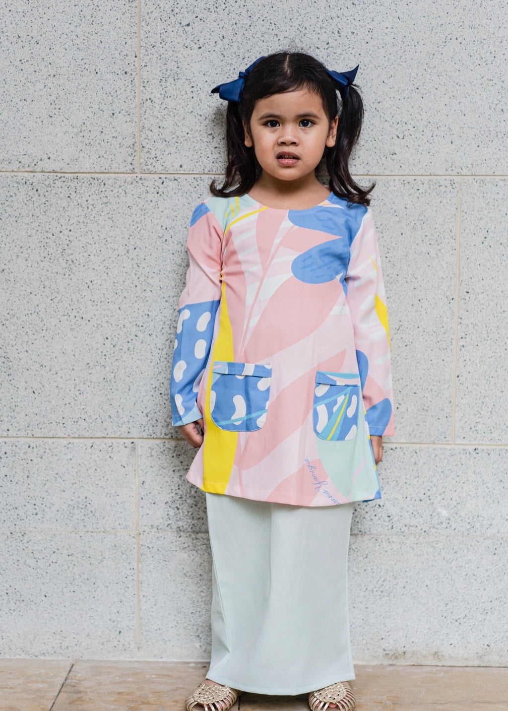 #AYLEBARAN2020 Kids Printed Kurung Pahang in Mint