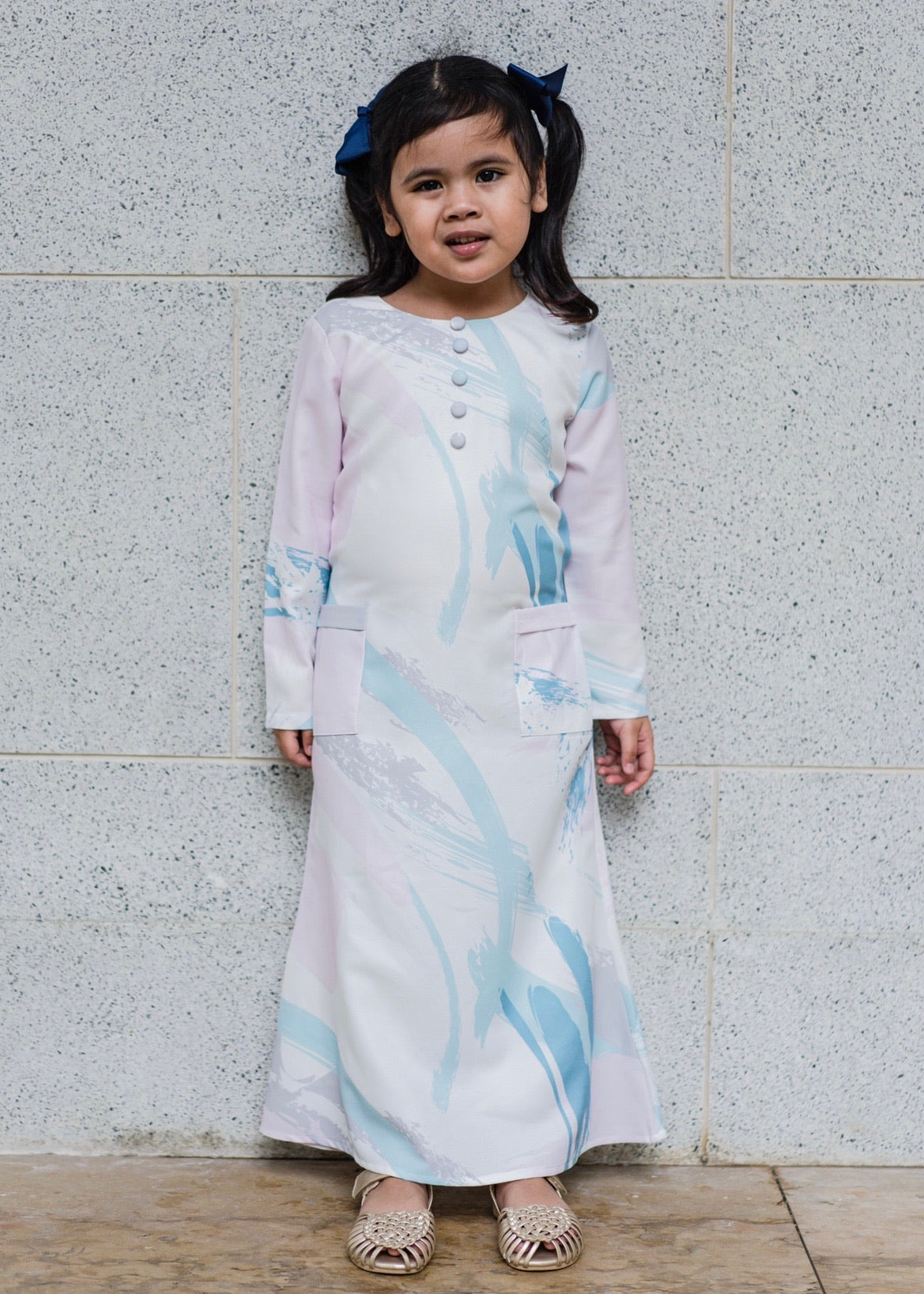 #AYLEBARAN2020 Kids Printed Dress in Lilac