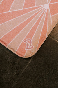 AY Home Floor Mat in Peach