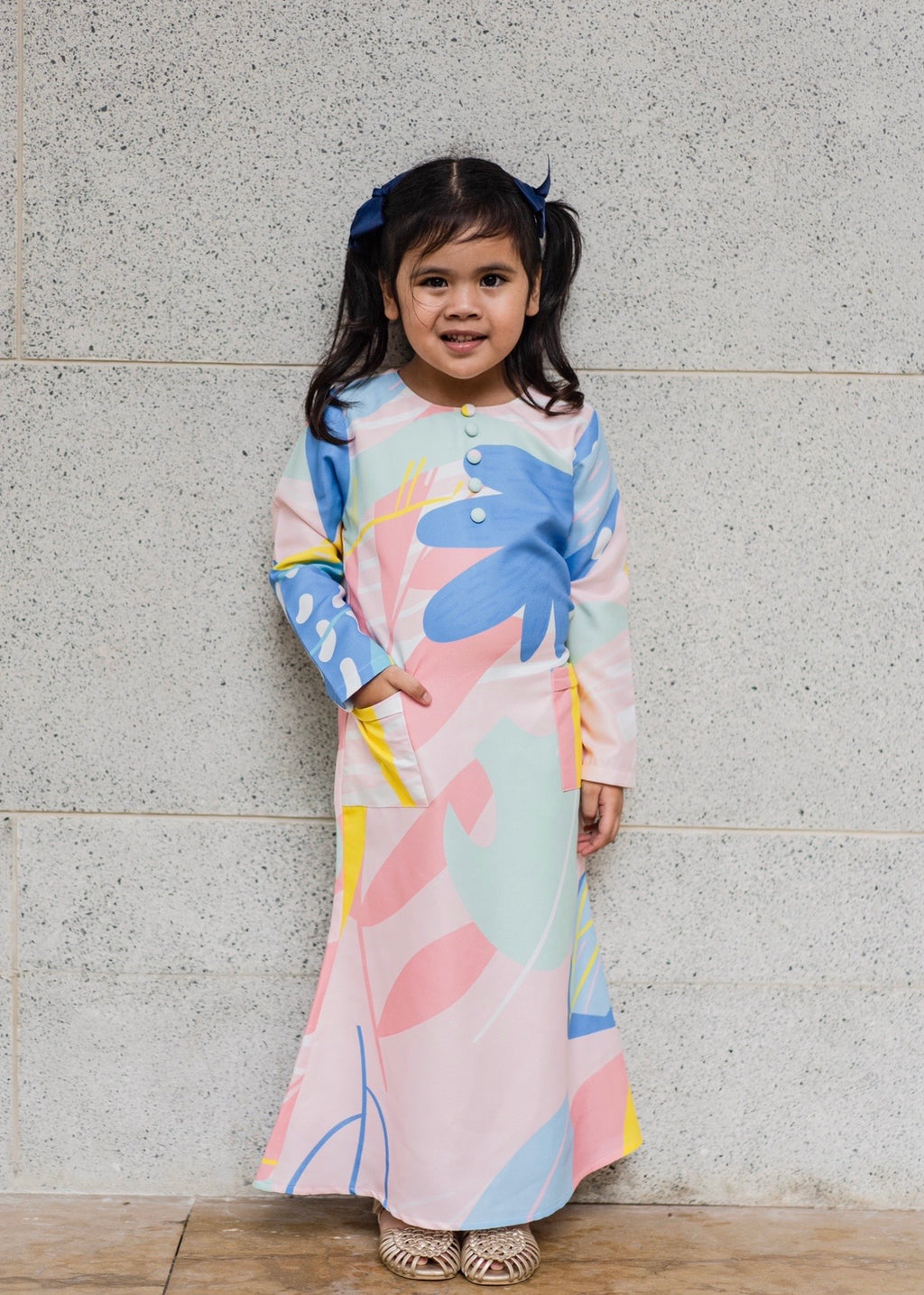 #AYLEBARAN2020 Kids Printed Dress in Mint