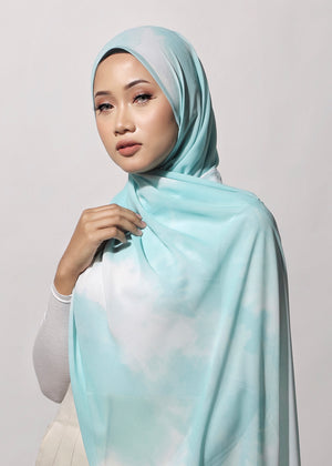 #AYTIEDYE Printed Shawl in Mint