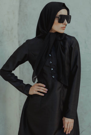 #AYLEBARAN2019 GIRL Kurung Pahang Checkered Black