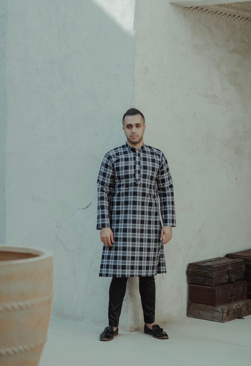 #AYLEBARAN2019 Men BLACK CHECKERED KURTA