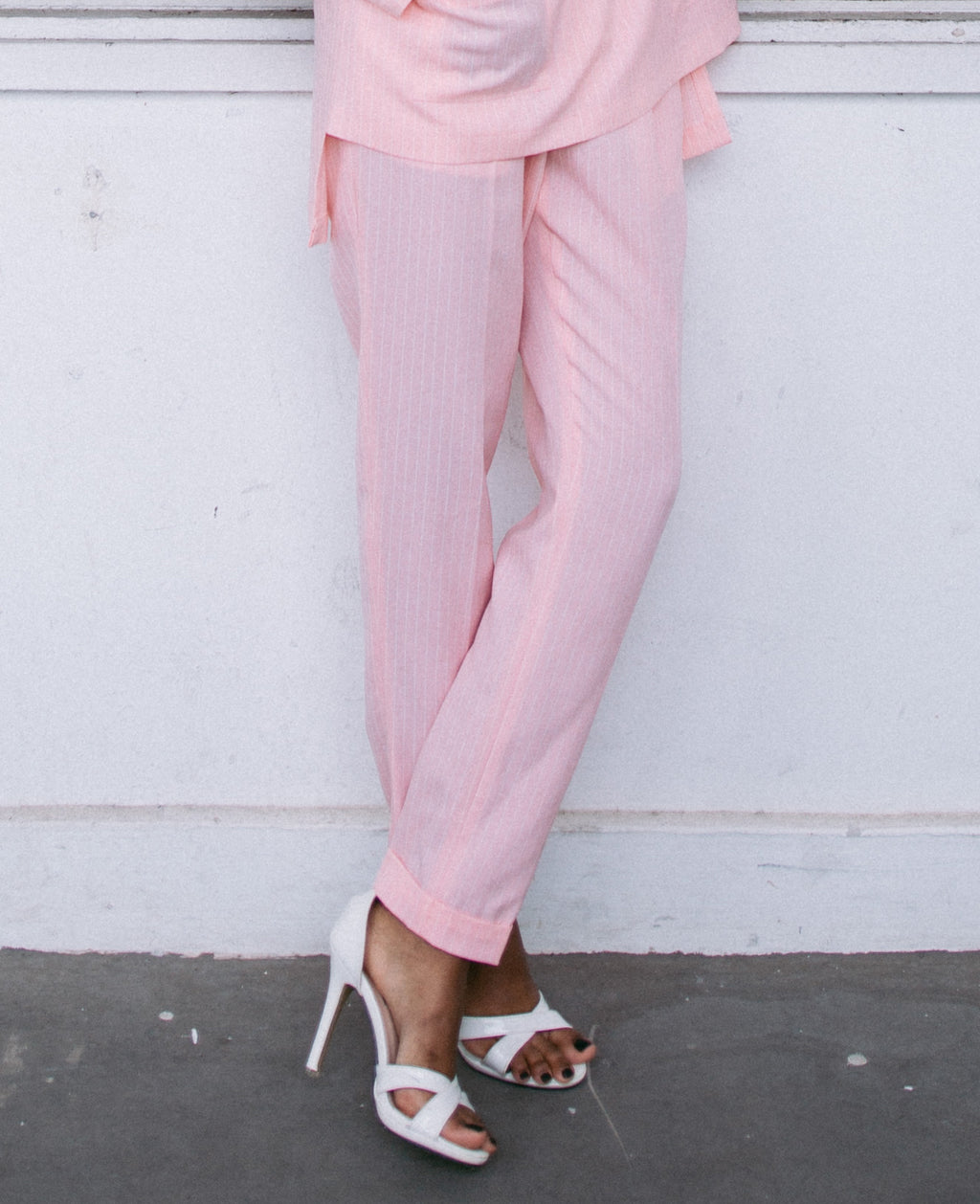 MINIMALIST Pink Slim Cut Pants