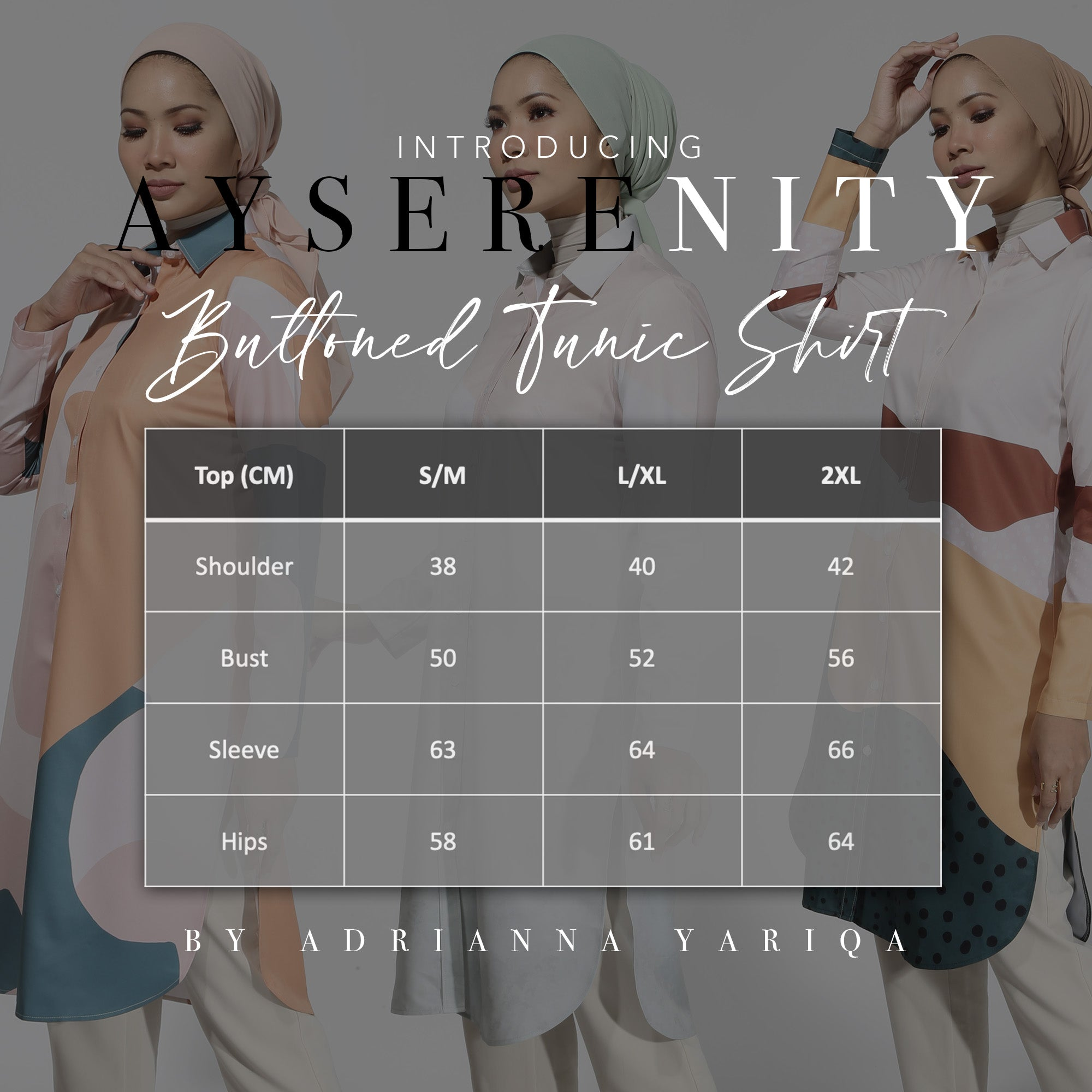 #AYSerenity Buttoned Tunic Shirt in Emerald Caramel