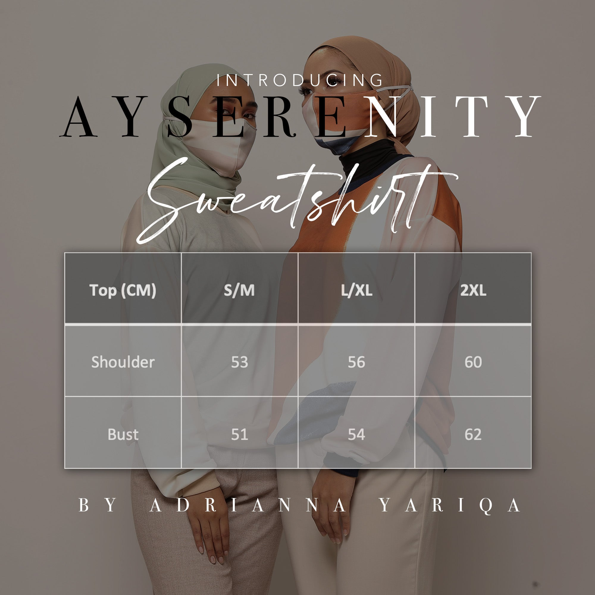 #AYSerenity Sweatshirt in Geo Copper