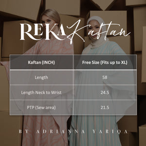 REKA Kaftan Malam in Black