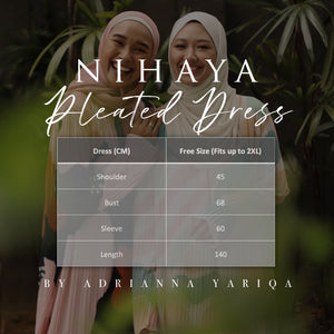 NIHAYA Pleated Dress Sakura in Nude White