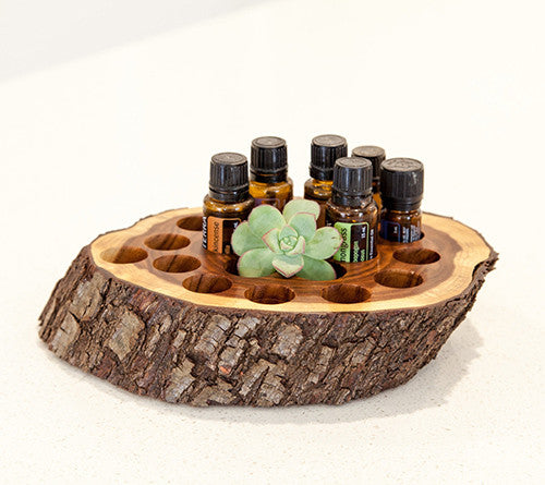 Essential oil handmade wood holder