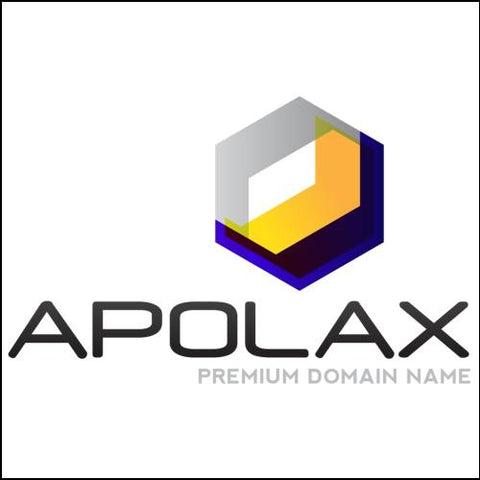 Image of Apolax Domain and Yellow Logo for Sale by DnCore