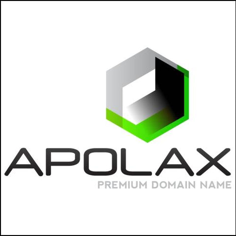 Image of Apolax Domain and Green / Black Logo for Sale by DnCore