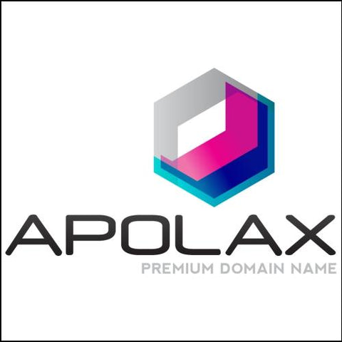 Image of Apolax Domain and Blue / Pink Logo for Sale by DnCore