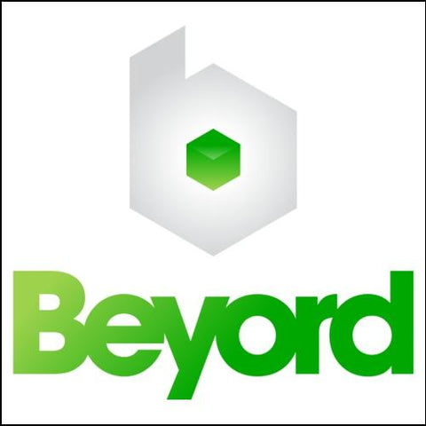 Image of Beyord.com Domain with Green Logo for Sale at DnCore Domains