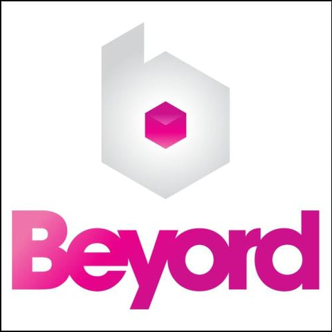 Image of Beyord.com Domain with Purple Logo for Sale at DnCore Domains