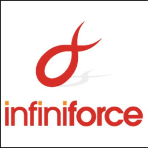 Image of InfiniForce Domain and Logo for Sale by DnCore
