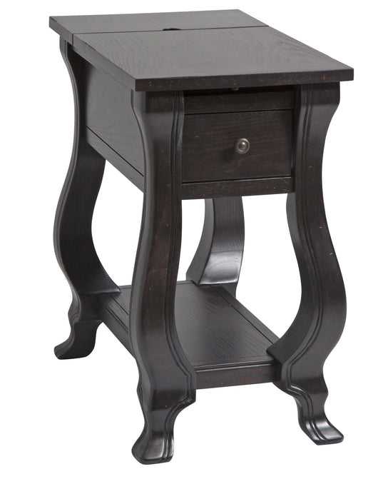 St. Croix one-drawer chairsider in espresso