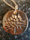 Tree of Life Pendant w/Shell background
