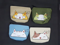 We Love Cats Even The Grumpy Ones Canvas Coin Purse