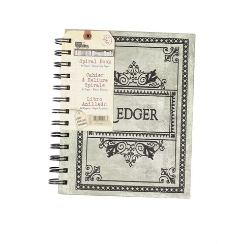 "Architextures™ Vintage Spiral Book - 5""X7"" Ledger"