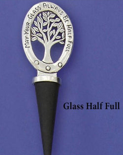 Glass Half Full Tree Bottle Stopper