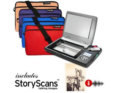 Flip-Pal Mobile Scanner + Deluxe Case, Bonus Cleaning Cloth & StoryScans Talking Images