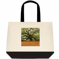 Family History Hound Two Tone Tote - Family History In The Bag