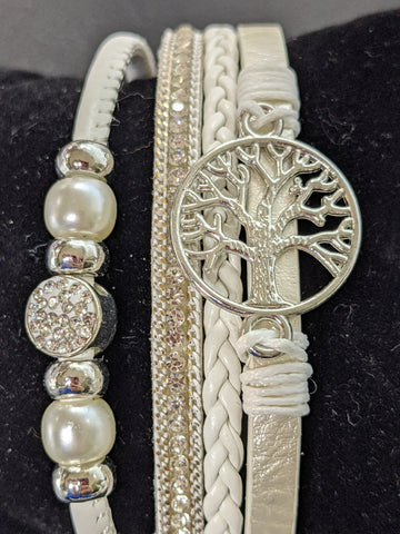 Tree of Life Multi Row with Pearls