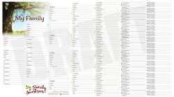 Family Ancestrees Chart - 8 Generation Family Tree