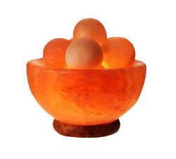 Salt Lamp - Fire Bowl With Massage Balls