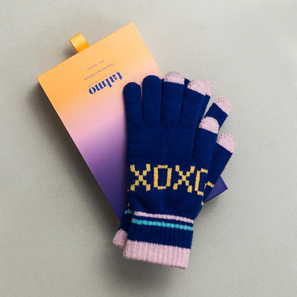 Talmo Touchscreen Gloves - Blue XOXO