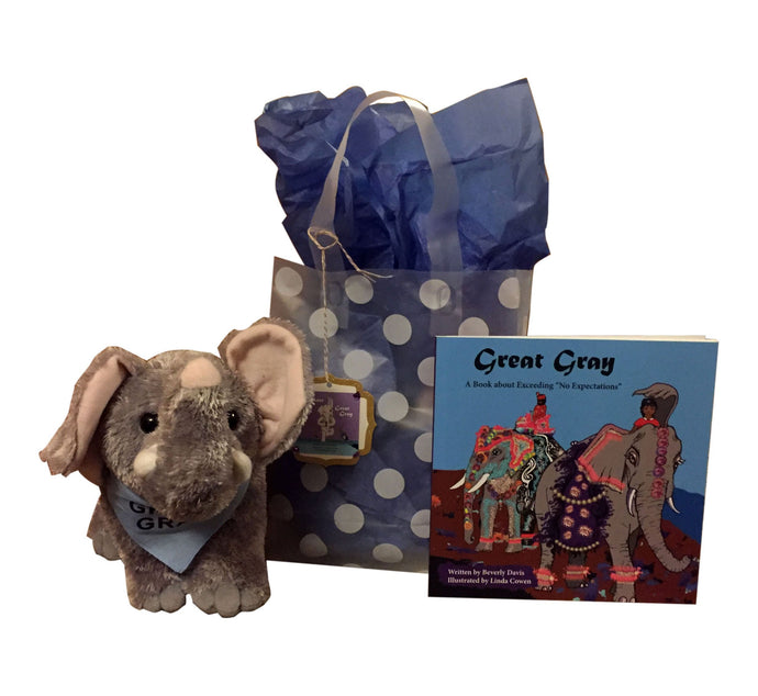 "Special Holiday Great Gray Exceeding ""NO Expectations"" Gift  Bag"