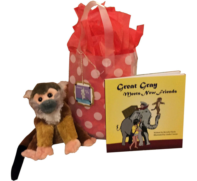 Special Holiday Great Gray Meets New Friends Gift Bag